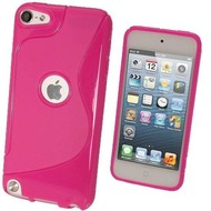 Apple Ipod Touch 5 - Tpu Siliconen Case Hoesje S-Style Roze