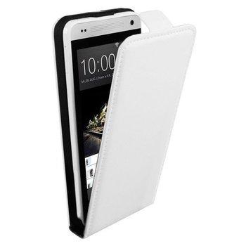 HTC One Mini - Flipcase Cover Hoesje Lederlook Wit