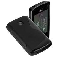 LG- L1-2- E410 - Silicone  case Hoesje S Style - Zwart