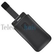 Samsung i9190 Galaxy S4 Mini - Lederloook Pouch Insteekhoesje -Zwart