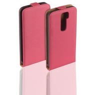 LG G2 - Flip Case Cover Hoesje Leder Roze