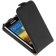 Samsung Galaxy Trend - Flip Case Cover Hoesje Lederlook Zwart