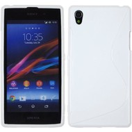 Sony Xperia Z1 - TPU Silicone  S rubber case Hoesje S Style - Wit