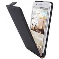 Huawei Ascend P6 - Flipcase Cover Hoesje Lederlook Zwart