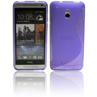 HTC One Mini - Tpu Siliconen Case Hoesje S-Style Paars