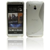 HTC One Mini - Tpu Siliconen Case Hoesje S-Style Transparant