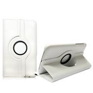 Samsung Galaxy TAB 3 (7.0) - Hoes 360° Draaibare Case Lederlook Wit