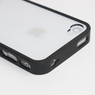 Apple iPhone 5 / 5S - Pvc Siliconen Case Hoesje Transparant Zwart