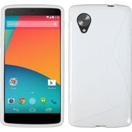 Lg Nexus 5 - Tpu Siliconen Case Hoesje S-Style Wit