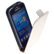 Samsung Galaxy Trend Lite (Fresh) - Flip Case Cover Hoesje Lederlook Wit