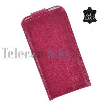 Apple iPhone 5 / 5S - Flip Case Cover Hoesje Echt Leder Bordeaux