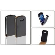 Samsung Galaxy Trend Lite (Fresh) - Flip Case Cover Hoesje Leder Zwart