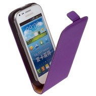 Samsung Galaxy Trend - Flip Case Cover Hoesje Leder Paars