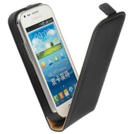 Samsung Galaxy Trend - Flip Case Cover Hoesje Leder Zwart