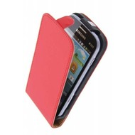 Samsung Galaxy Trend - Flip Case Cover Hoesje Lederlook Roze