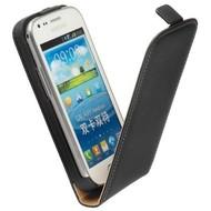Samsung Galaxy Trend Plus - Flip Case Cover Hoesje Leder Zwart