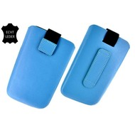 Samsung Galaxy Trend Plus - Insteekhoesje Cover Leder Turquoise