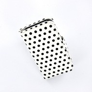 Apple Iphone 4 /4 S Bookstyle Case Hoesje -Polkadot Wit