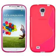 Samsung Galaxy S4 Mini - Tpu Siliconen Case Hoesje S-Style Roze
