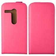 Motorola Moto G - Flip Case Cover Hoesje Lederlook Roze