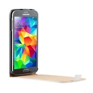 Samsung Galaxy S5 - Flip Case Cover Hoesje Lederlook Wit