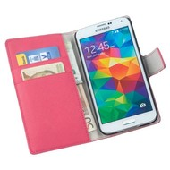Samsung Galaxy S5 - Wallet Bookstyle Case Y Roze