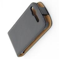 HTC Desire S  -Leder  Flip case/cover hoesje - Zwart