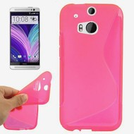 HTC One M8 - Tpu Siliconen Case Hoesje S-Style Roze
