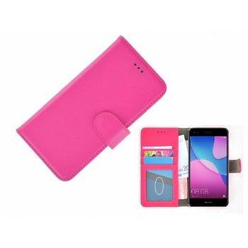 Wallet Bookcase Hoesje voor Huawei P20 - Roze Fashion