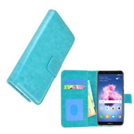 Turquoise Fashion Wallet Bookcase voor Huawei P smart