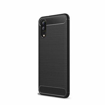 Zwart Carbon Geborsteld TPU Hoesje voor Huawei P20