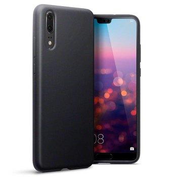 Zwart TPU Siliconen Case Hoesje voor Huawei P20