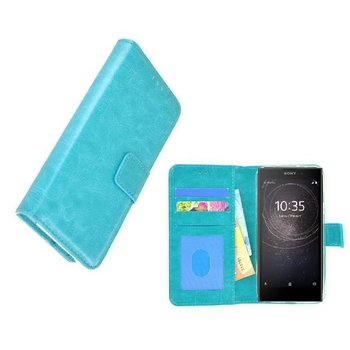 Turquoise Fashion Wallet Bookcase Hoesje voor Sony Xperia XA2 Ultra
