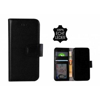 Pearlycase® Echt Leer Classic Bookcase iPhone X - Zwart