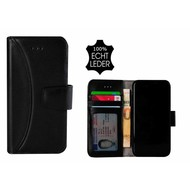 Pearlycase® Echt Leer Moon Bookcase iPhone X - Zwart