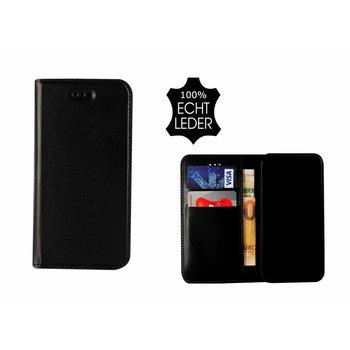 Pearlycase® Echt Leer Slim Bookcase iPhone X -  Zwart