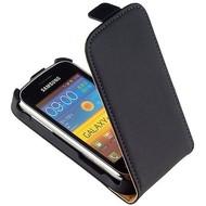 Samsung S6500 Galaxy Mini 2  -Leder  Flip case/cover hoesje - Zwart