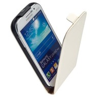 Samsung Galaxy Grand Neo Plus - Flip Case Cover Hoesje Leder Wit