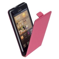 Huawei Ascend G6 - Flip Case Cover Hoesje Lederlook Roze