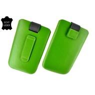 Motorola Moto E - Insteekhoesje Cover Leder Groen