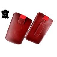 Motorola Moto E - Insteekhoesje Cover Leder Bordeaux