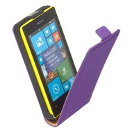 Nokia Lumia 520  -Leder  Flip case/cover hoesje - Paars