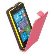 Nokia Lumia 520  -Leder  Flip case/cover hoesje - Roze