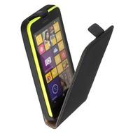 Nokia Lumia 635  -Leder  Flip case/cover hoesje - Zwart