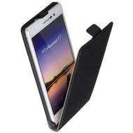 Huawei Ascend P7 - Flip Case Cover Hoesje Leder Zwart