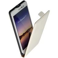 Huawei Ascend P7 - Flip Case Cover Hoesje Lederlook Wit