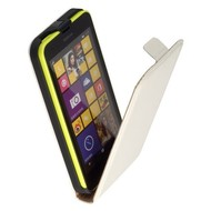 Nokia Lumia 630  -Lederlook  Flip case/cover hoesje - Wit