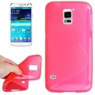 Samsung Galaxy S5 Mini - Tpu Siliconen Case Hoesje S-Style Roze