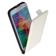 Samsung Galaxy S5 Mini - Flip Case Cover Hoesje Lederlook Wit
