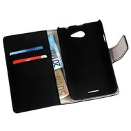 HTC Desire 516 - Wallet Bookstyle Case Y Lederlook Zwart